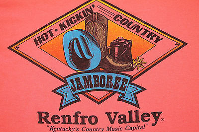 XL * vtg 80s RENFRO VALLEY KENTUCKY country bluegrass t shirt * 43.56