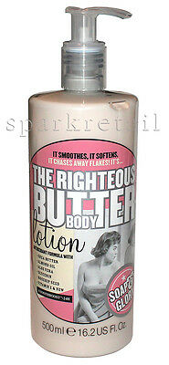 Soap and Glory THE RIGHTEOUS BUTTER Body Lotion 500ml Shea Butter, Rosehip Oil