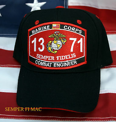 Us Marines Mos 1371 Combat Engineer Hat Fmf Patch Cap Wowmh Pin Up Comm Gift Wow