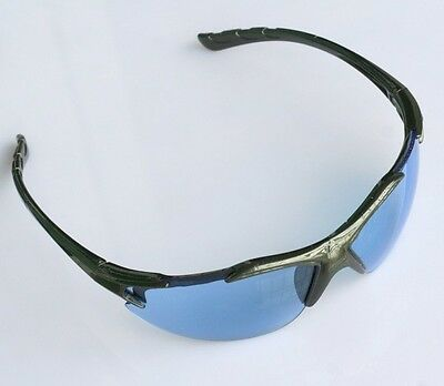 1x Blue Lens Industrial Sports Lab Safety Protective Glasses Specs