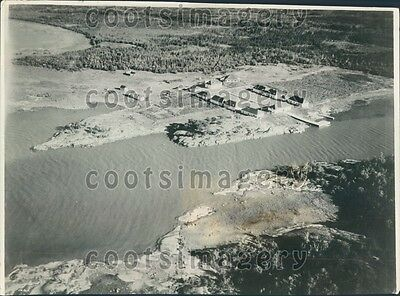 1935 Aerial View Collapsed Cliff of Dover Larkland Point England Press Photo
