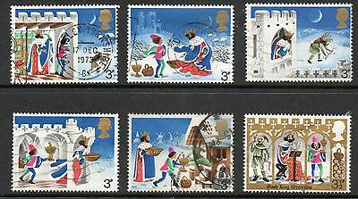 GB 1973 Christmas Fine used set stamps