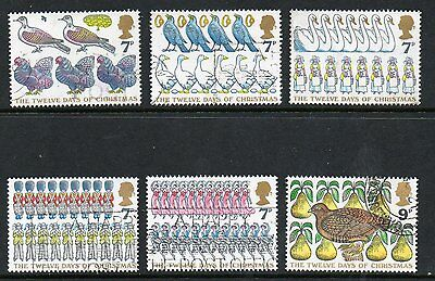 GB 1977 Christmas fine used set stamps