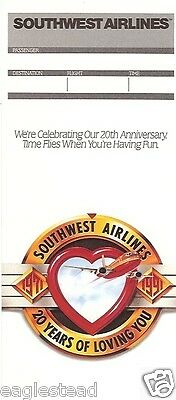 Ticket Jacket - Southwest - 20th Anniversary Year Loving You - Fun - 1991(J1439)
