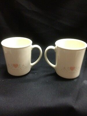 Vintage corning mugs set of 2 These Are Beige In Color Not Bright White#23