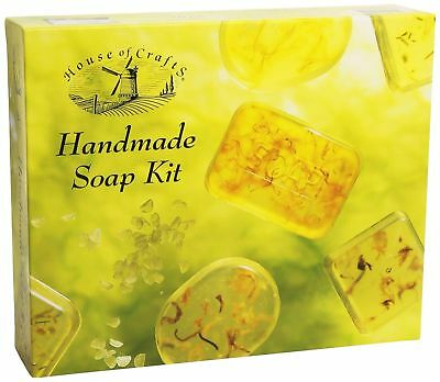Natural Handmade Soap Making Craft Kit House Of Crafts Gift Set Fragrance Moulds