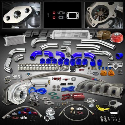 T04E T3 18PC TURBO KIT TURBOCHARGER+CAST MANIFOLD+INTERCOOLER BMW E36 M50/M52 l6