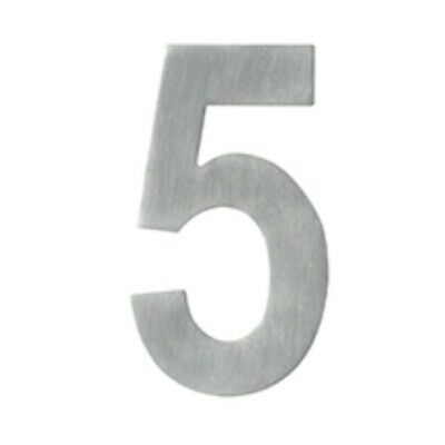 Delf Door House Number # 1 SS1301 130mm Rear Fix On Post Satin Stainless Steel