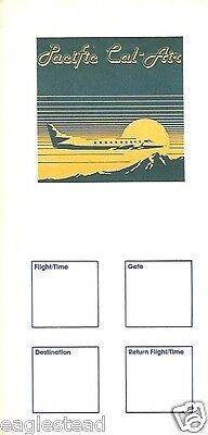 Ticket Jacket - Pacific Cal-Air - Swearingen Metro Cover Edited Cities (J1490)