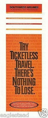 Ticket Jacket - Southwest - Try Ticketless Travel - 1997 (J1498)