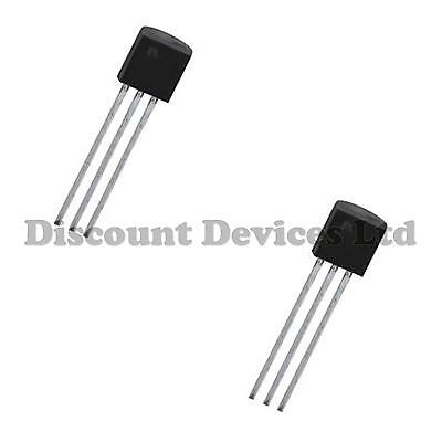 2x TMP36GT9Z Analog Low Voltage Precision Temperature Sensor (Linear) IC TO-92