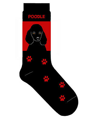 Poodle Socks Lightweight Cotton Crew Stretch Egyptian Made Black