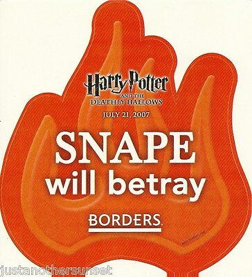 Harry Potter Sticker Decal Promo Borders SNAPE is a very bad man Deathly Hallows