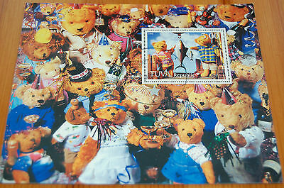 Teddy Bears 1998 Tuva Republic Imperforate Stamp Sheet VFU