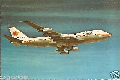 Airline Postcard - National - B747 - Nice Sculpted Shaped Edges (P3326)