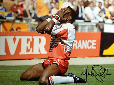 Martin Offiah - Wigan  Rugby League Star -  Superb Signed Colour Photograph