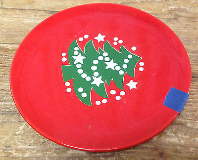 Waechtersbach Red Christmas Tree West W Germany 1 Salad or Dessert Plate 7 3/4""