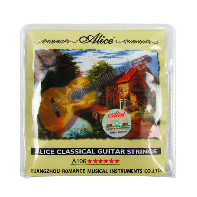 1Set Alice Classical Guitar Strings 3 Clear Nylon & 3 Copper Alloy Wound Strings