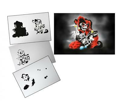 Step by Step Airbrush Stencil AS-105 ~ Template ~ UMR-Design