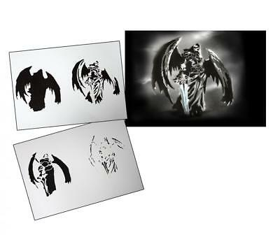 Step by Step Airbrush Stencil AS-106 ~ Template ~ UMR-Design