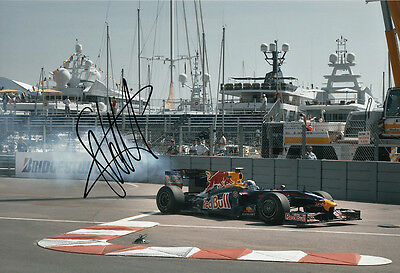Sebastian Vettel Hand Signed Red Bull Racing Photo 12x8 1.
