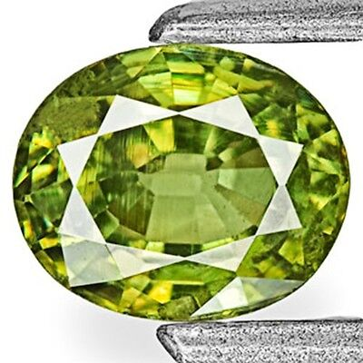 0.71-Carat Vivid Yellowish Green Eye-Clean Demantoid Garnet 5.53x4.54x3.19 mm