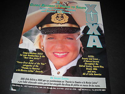 XUXA Delights The World 1990 Music Business PROMO DISPLAY ADVT mint condition