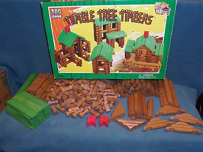 Timber Tree Timbers 296 Pieces Play Wooden Logs