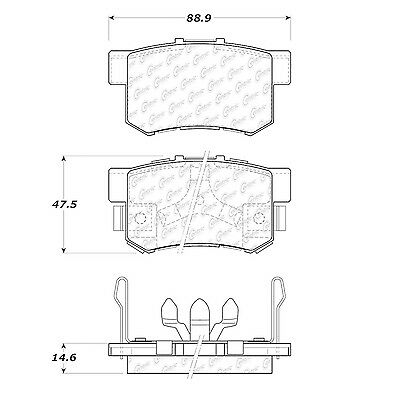 Disc Brake Pad-Posi-Quiet Extended Wear w/Shims & HrdWr Rear Centric 106.10860