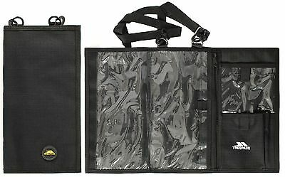 NEW Trespass Compass & MAP CASE Black Cover Hiking Walking Orienteering