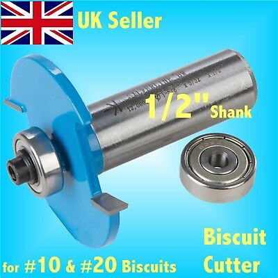1/2 SHANK BISCUIT CUTTER  ROUTER BIT 10 & 20 joining jointer