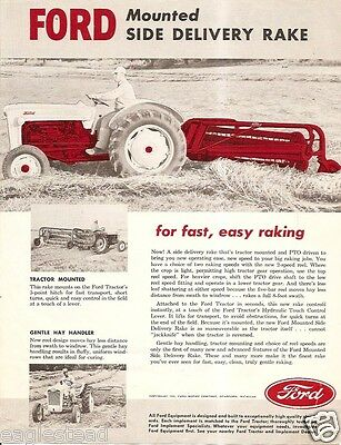 Farm Implement Brochure - Ford -  Mounted Side Delivery Rake - 1955 (F1490)