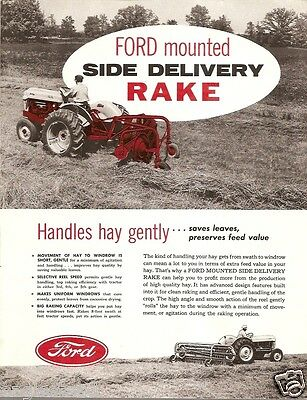 Farm Implement Brochure - Ford -  Mounted Side Delivery Rake - 1956 (F1491)