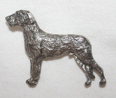 Irish Wolfhound Dog Fine PEWTER PIN Jewelry Art USA Made