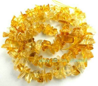 A Natural Citrine 5-8mm Baroque Chips Loose Beads 15''
