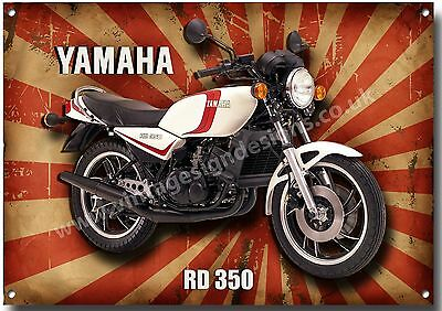 Large A3 Size Yamaha Rd 350 Motorcycle Metal Sign,classic,retro,superbike.