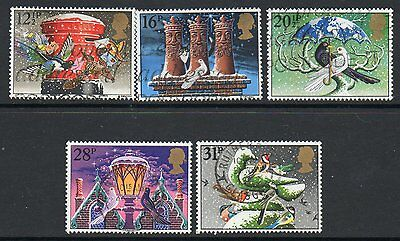 GB 1983 Christmas fine used set stamps