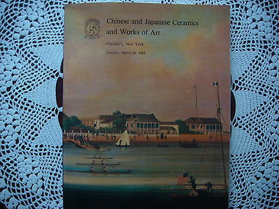 Christie's Chinese and  Japanese Ceramics  Works of  Art March 29 1983 New York
