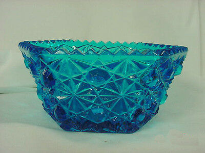 DEEP TURQUOISE BOWLS DAISY & BUTTON 6 SIDED SET OF 2
