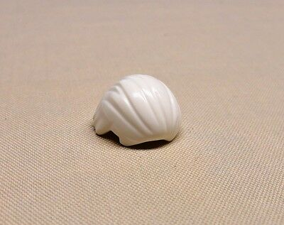 NEW Lego Minifig Hair White Combed Front to Rear Headgear