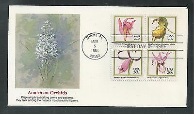 # 2076-2079 AMERICAN ORCHIDS 1984 Fleetwood First Day Cover