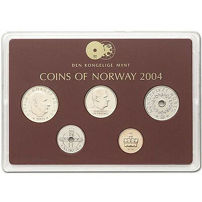 "2004 Norway Classic Uncirculated Coin Set ""Railways 150 Years"""
