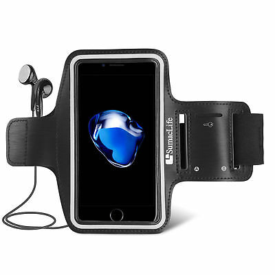 Black Sumaclife Sport GYM ARMBAND CASE for Samsung Galaxy Note 5 / S6 Edge+ Plus