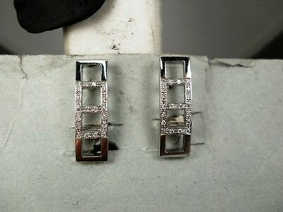 ORECCHINI BRILLANTI KT 0,25 in ORO BIANCO 18 KT  Earrings Gold BRILLIANT