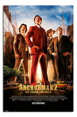 Anchorman 2 One Sheet Movie Poster New - Laminated Available