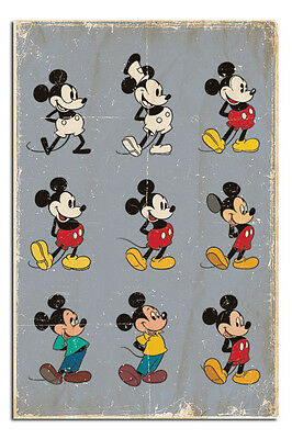 Mickey Mouse Evolution Large Maxi Wall Poster New - Laminated Available