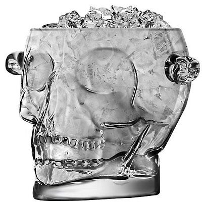 NEW Brainfreeze Glass Skull Ice Bucket - 54 oz