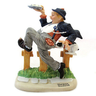 Norman Rockwell Figurine Caught in the Act From The Danbury Mint 1980