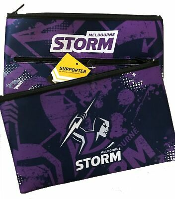 Melbourne Storm NRL Large Neoprene Team Colour and Logo Pencil Case