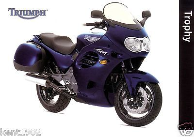 Postcard of Triumph Trophy  Motorcycle Motorbike unposted